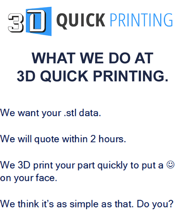 3D Quick Printing Banner